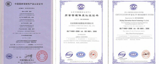 CCC & ISO Qualification Certificate